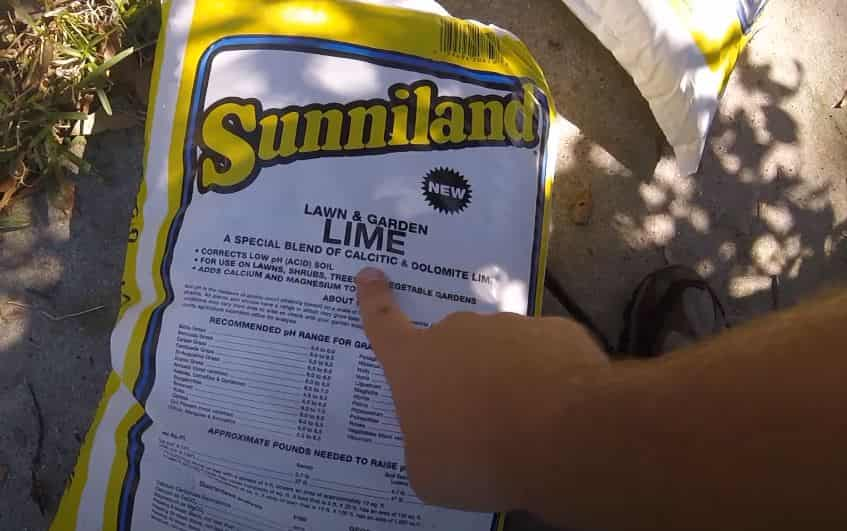 When to apply lime on lawn